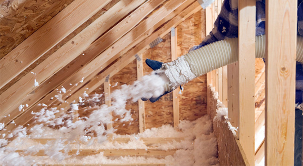 Attic Foam and Fiberglass Insulation